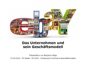 Benjamin Böge - Geschäftsmodell ebay