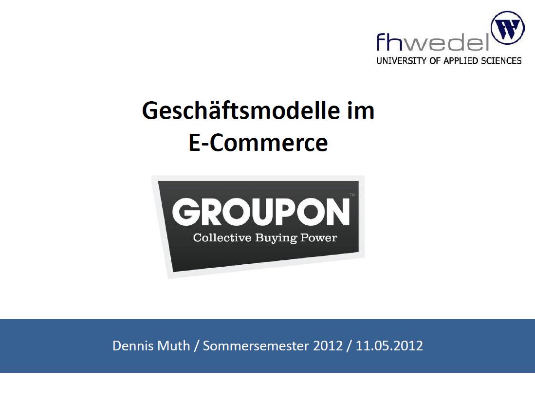 Dennis Muth - Geschäftsmodell Groupon