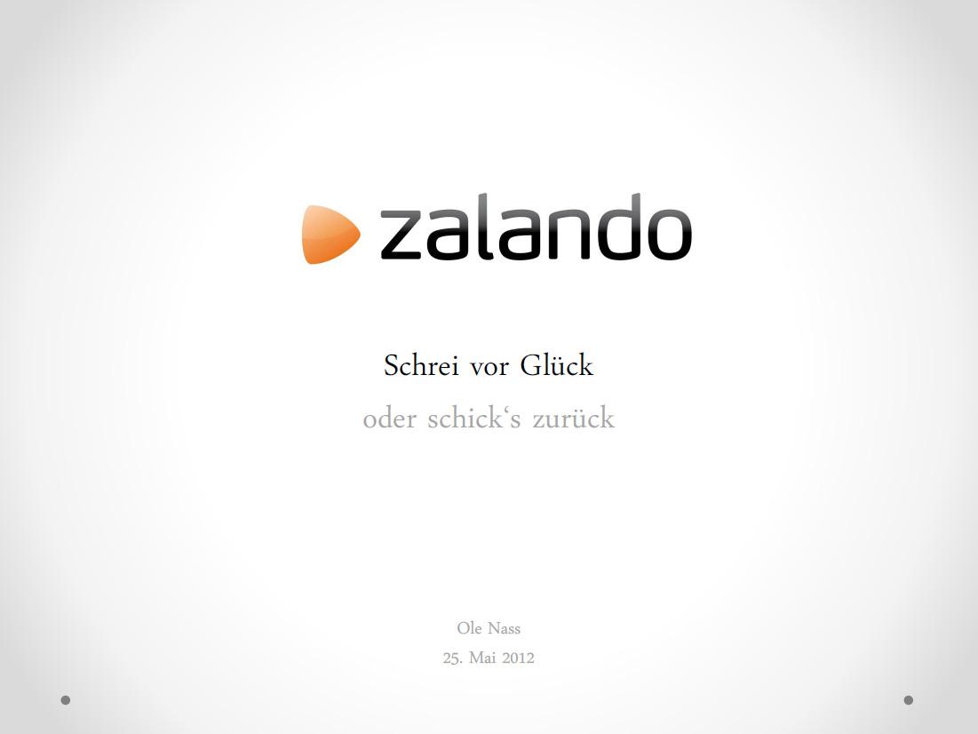 Ole Nass - Geschäftsmodell Zalando
