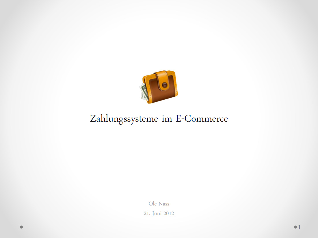 Ole Nass - Zahlungssysteme im E-Commerce