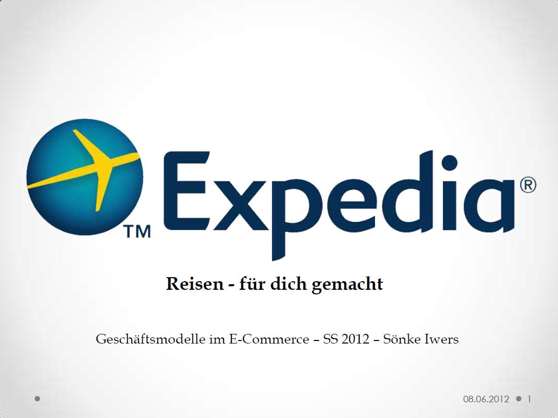 Sönke Iwers - Geschäftsmodell Expedia