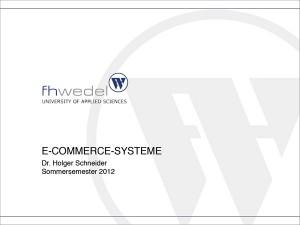 Titelfolie Vorlesung E-Commerce Systeme