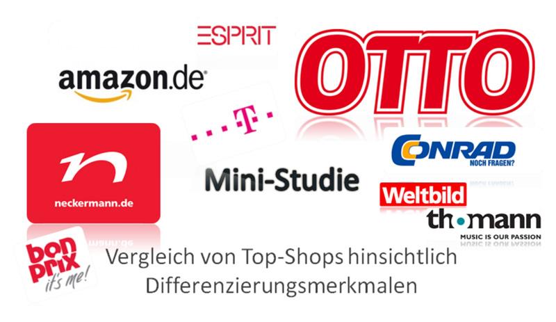 Mini-Studie - Vergleich von Top-Shops
