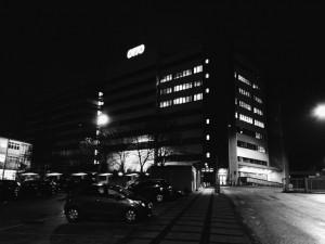 Otto Gebäude bei Nacht