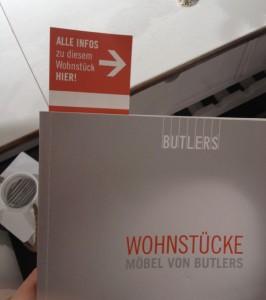 Das Lesezeichen im Butlers Wohnstücke Katalog ist eine gute und einfache Möglichkeit, um Kunden später zum Kauf zu animieren.