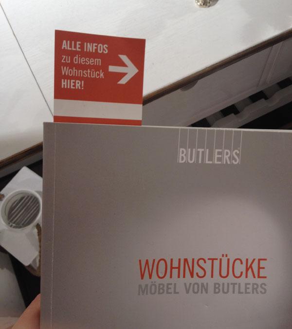 Butlers Katalog butlers wohnstücke katalog mit lesezeichen - webspotting