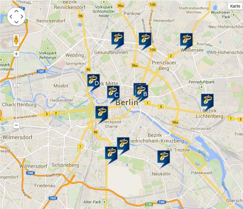 Norisbank Berlin Filialen: Berlin Filialen