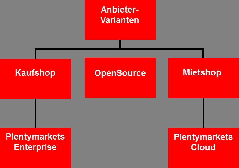 Anbieter-Varianten Online-Shop