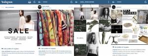 Content von Zara, Polyvore und Asos auf Instagram (Quelle: Screenshots von Instagram)