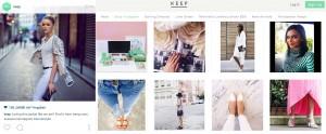 Keep integriert Instagram Posts in seinen Online-Shop