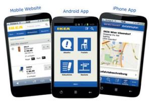Die IKEA Smartphone App und die Mobile Website des Online Shops