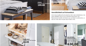 Screenshot des IKEA Online Shops