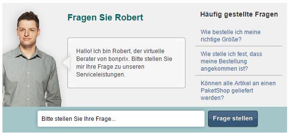 Virtueller Berater am Beispiel von bonprix; Quelle: www.bonprix.de/service/serviceleistungen/