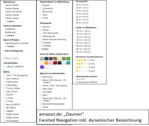 amazon.de: faceted Navigation
