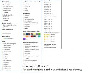 amazon.de: faceted Navigation