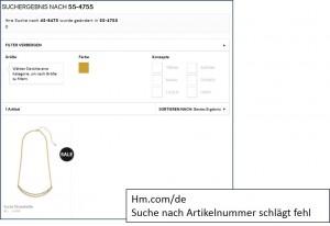 hm.com/de: gefundenes Produkt