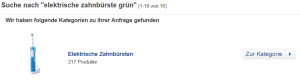 Feature Suchergebnisseite billiger.de