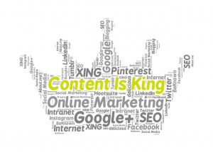 "Der Slogan ""Content is King"" hat sich mittlerweile etabliert Bildquelle: https://pixabay.com/de/content-is-king-online-marketing-1132259/"